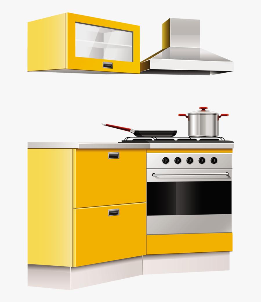 Oven Clipart Kitchen Furniture - Kitchen Furniture Png, Transparent Clipart
