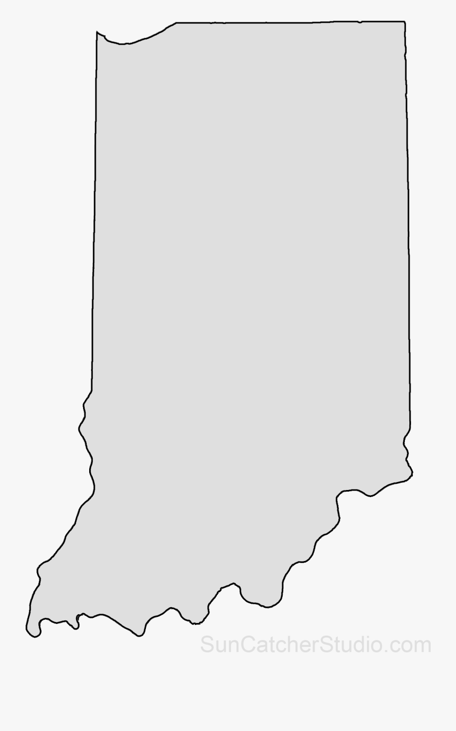 Clip Art Iowa State Map Outline - Transparent Indiana Outline, Transparent Clipart