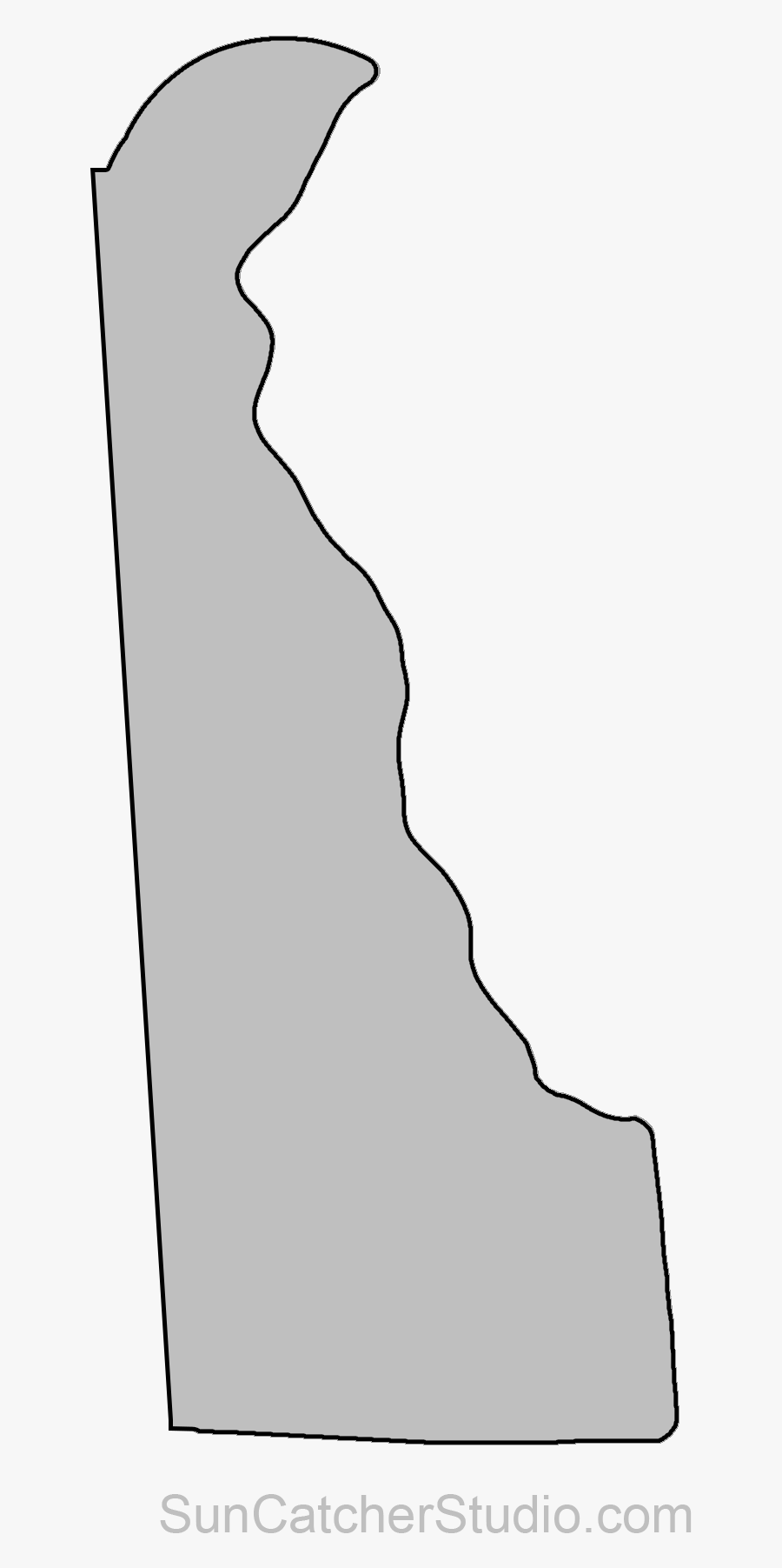Delaware Outline Png Pixels - Delaware State Outline Png, Transparent Clipart