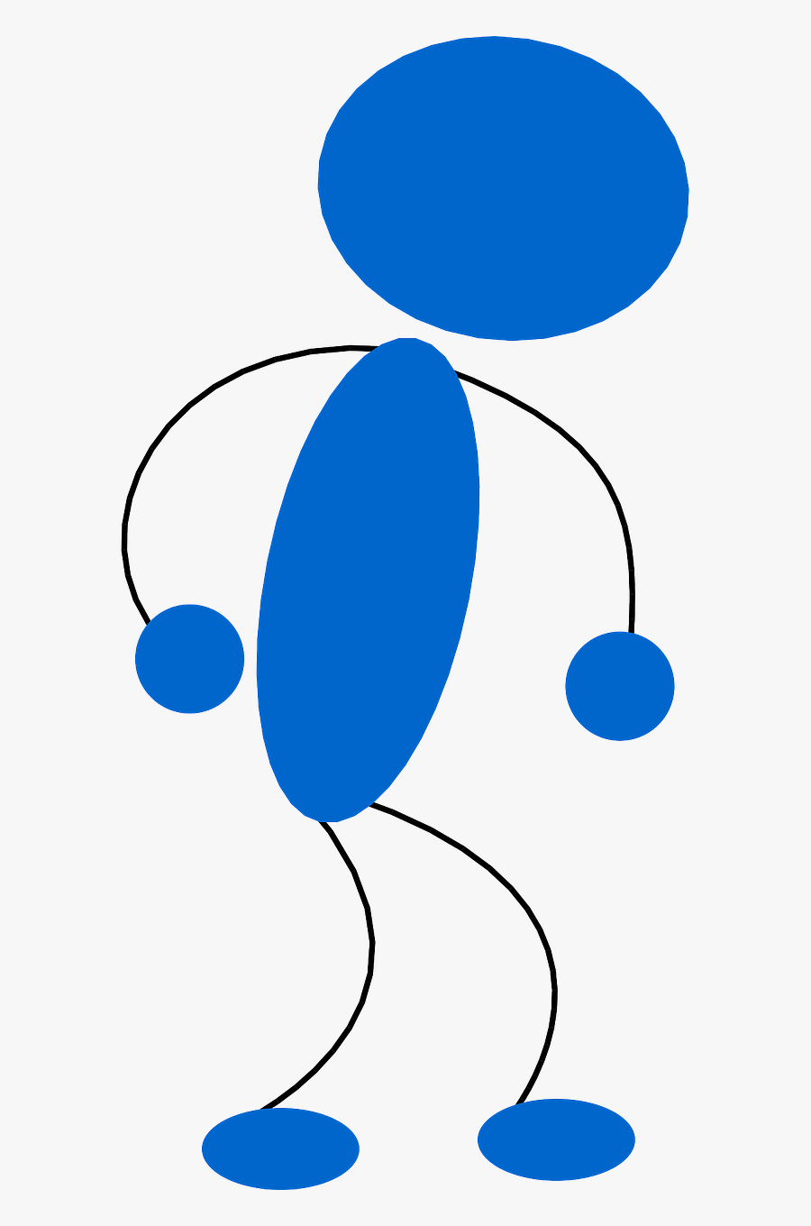 Matchstick Man Angry Frustrated Free Picture - Tired Blue Man Clipart, Transparent Clipart