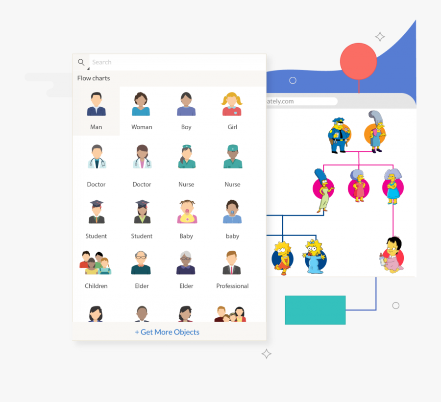 Draw Flow Chart For Family Tree, Transparent Clipart