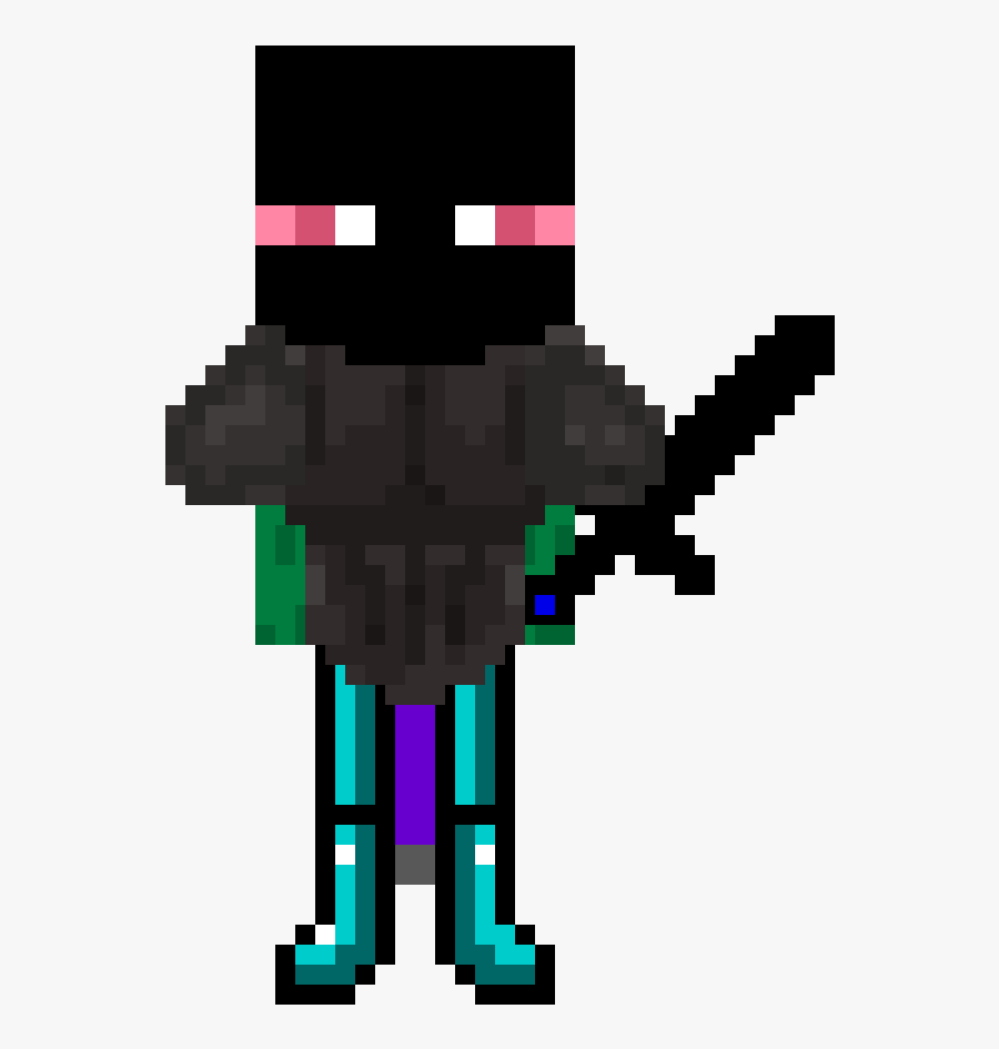 Enderman Drawing Minecraft Animation Transparent Png - Minecraft Gif Rainbow Animated, Transparent Clipart
