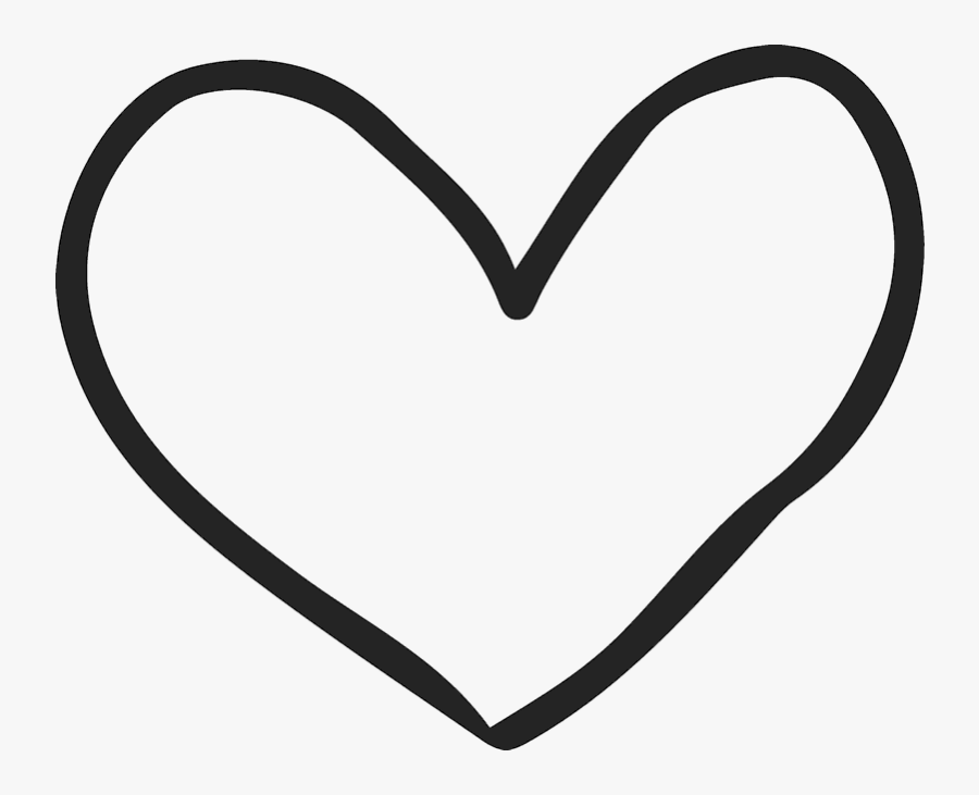 Handdrawn Heart Rubber Stamp - Drawn Heart Outline Png, Transparent Clipart