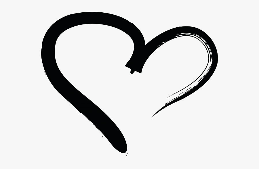 Transparent Hands Holding Heart Clipart - Png Black Hand Drawn Heart, Transparent Clipart