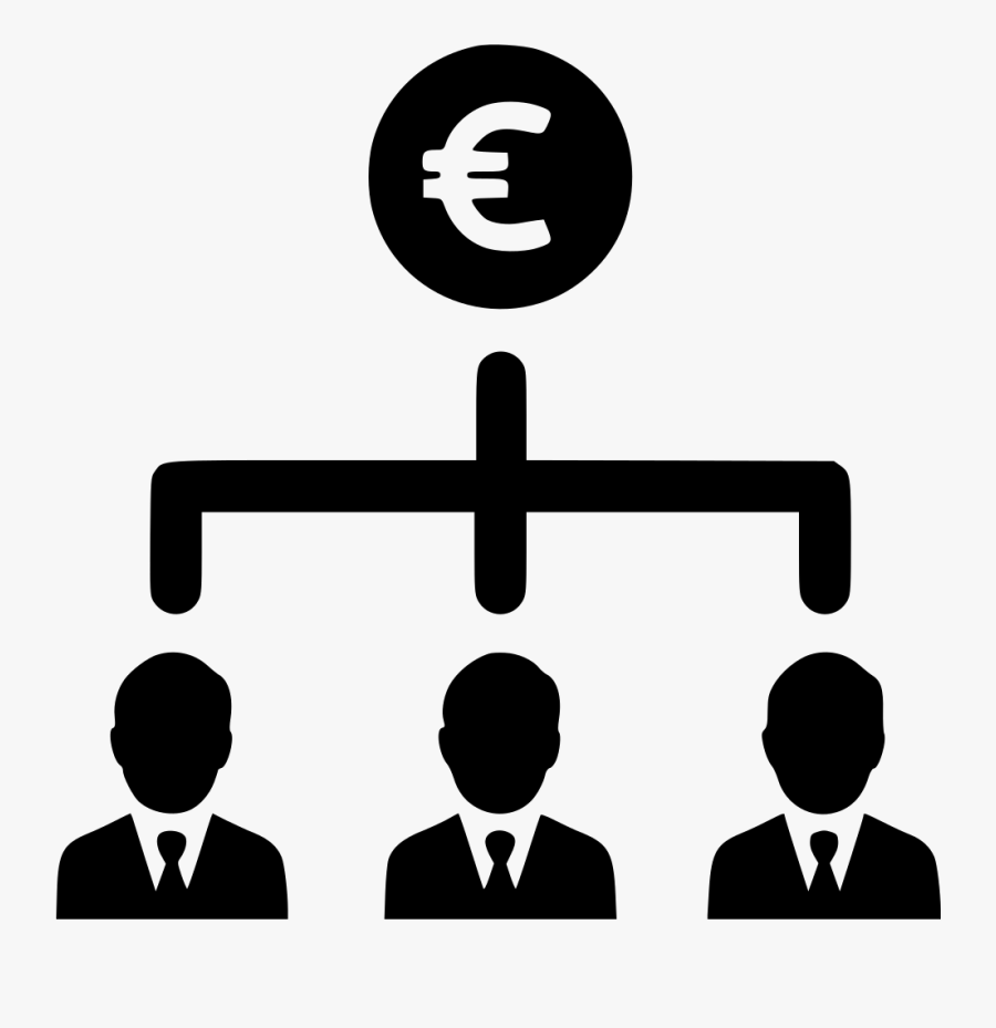 Euro Earnings Business Group People Businessmen Comments - Organization Chart Icon Png, Transparent Clipart