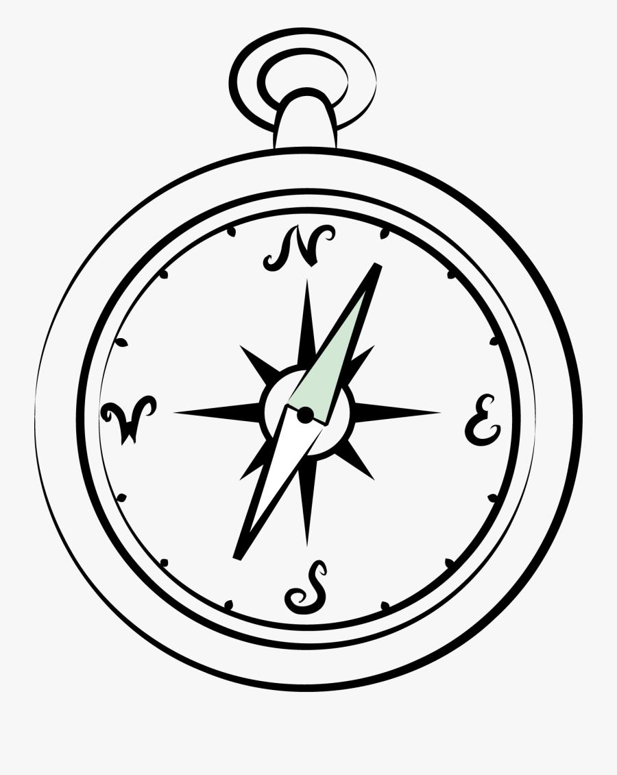 Compass Drawing Clip Art - Imagem De Bussola Para Colorir, Transparent Clipart