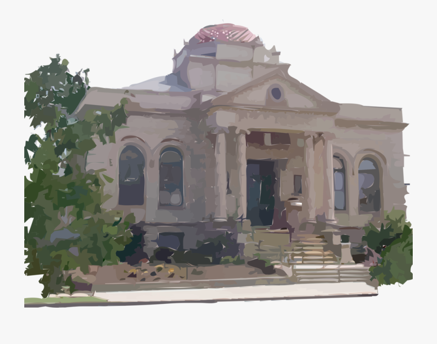 Carnegie Library Building - Library Buildings, Transparent Clipart