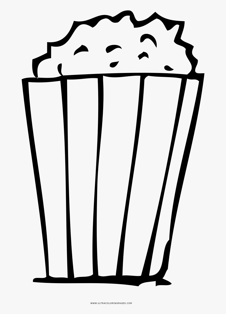 Popcorn Coloring Page Coloring Pages Popcons Free Transparent Clipart Clipartkey