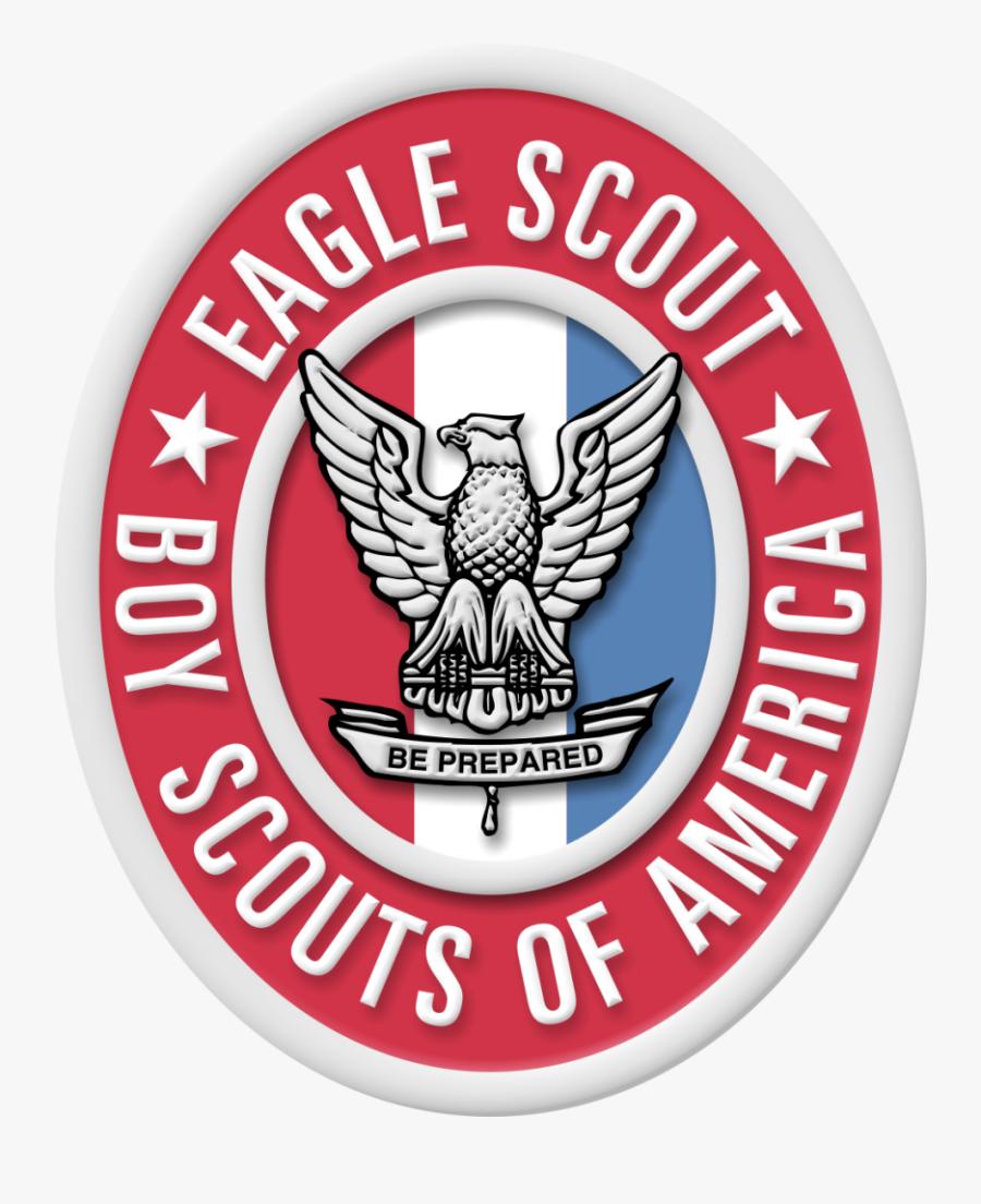 Large Eagle Scout Badge And Medal Image For Presentations - San Luis Obispo Fire Department Logo, Transparent Clipart
