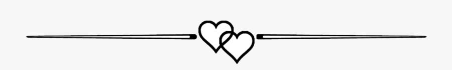 Cj Andrews - Love Heart Divider Line, Transparent Clipart