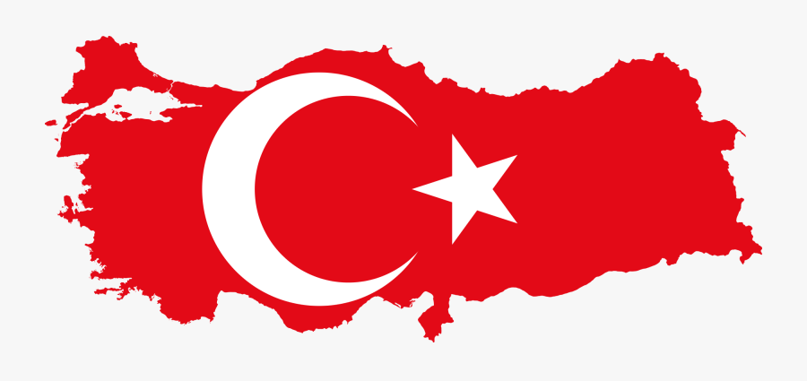 Turkey Country Map Flag, Transparent Clipart