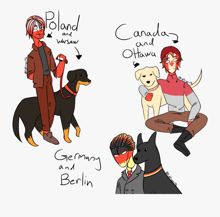 I Guess My Headcanon Is That Countries Have Dogs That - Cartoon, Transparent Clipart