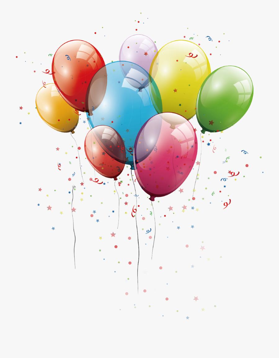 Birthday Balloons Birthday Balloons Vector Graphics - Birthday Balloons Vector Png, Transparent Clipart