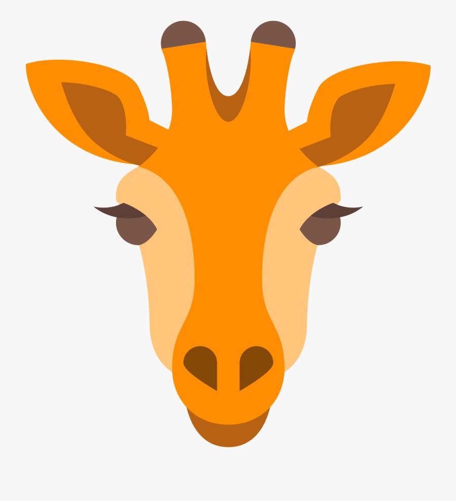 Vector Giraffe Head - Giraffe Head Clipart, Transparent Clipart