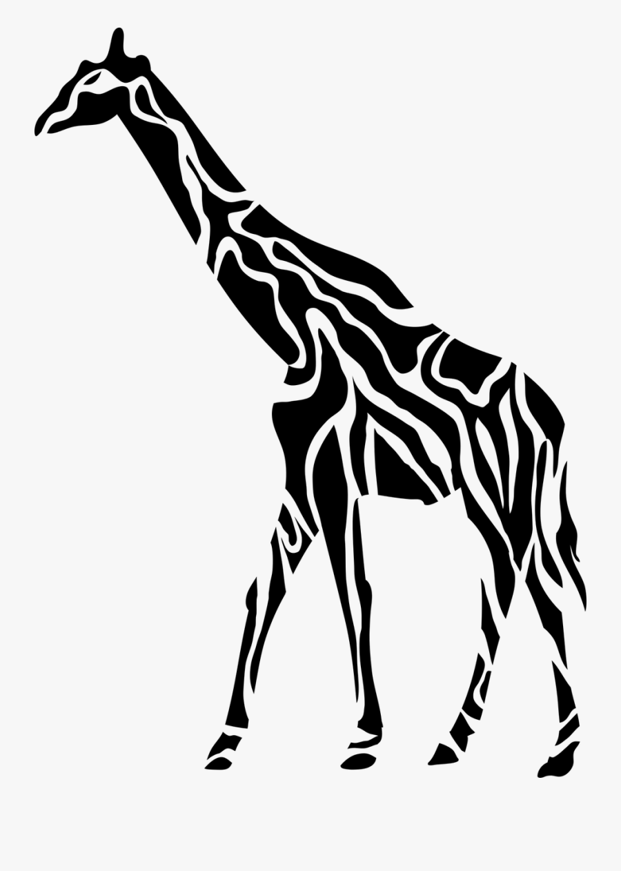 Animal Africa Large Mammal - Girafa Tribal, Transparent Clipart