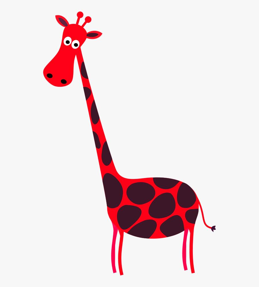 Vector Clip Art - Red Giraffe Clipart, Transparent Clipart