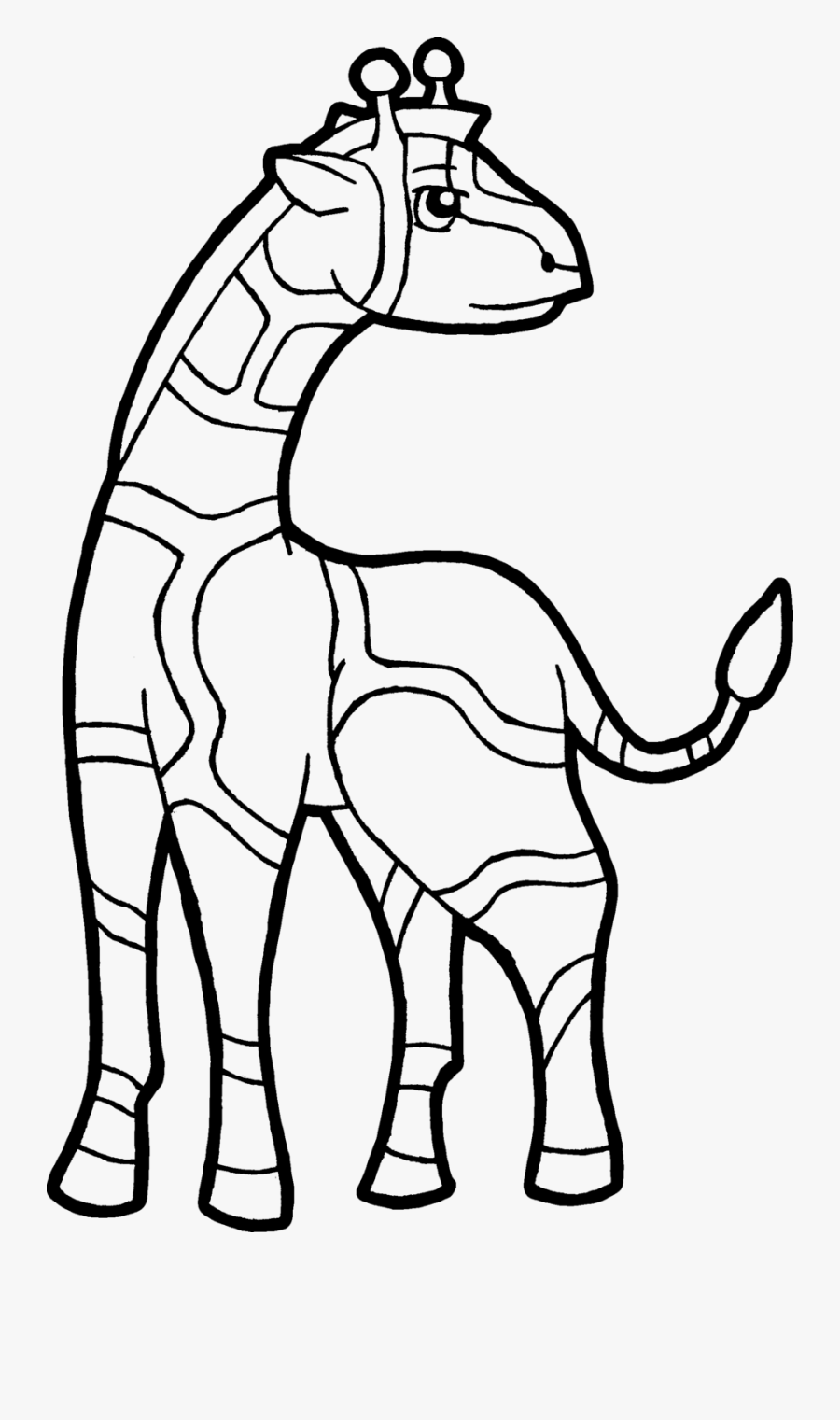 Giraffe - Coloring - Pages - Giraffe For Coloring Png, Transparent Clipart