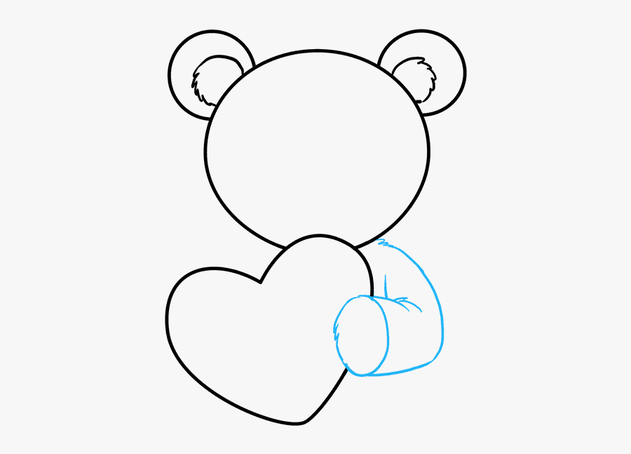 How To Draw Teddy Bear With Heart - Love Easy Easy Draw Teddy Bear Drawing, Transparent Clipart