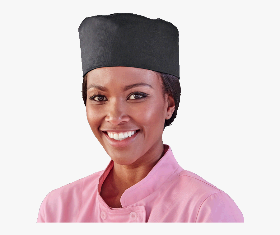 Chef Beanie - Woman - Woman, Transparent Clipart