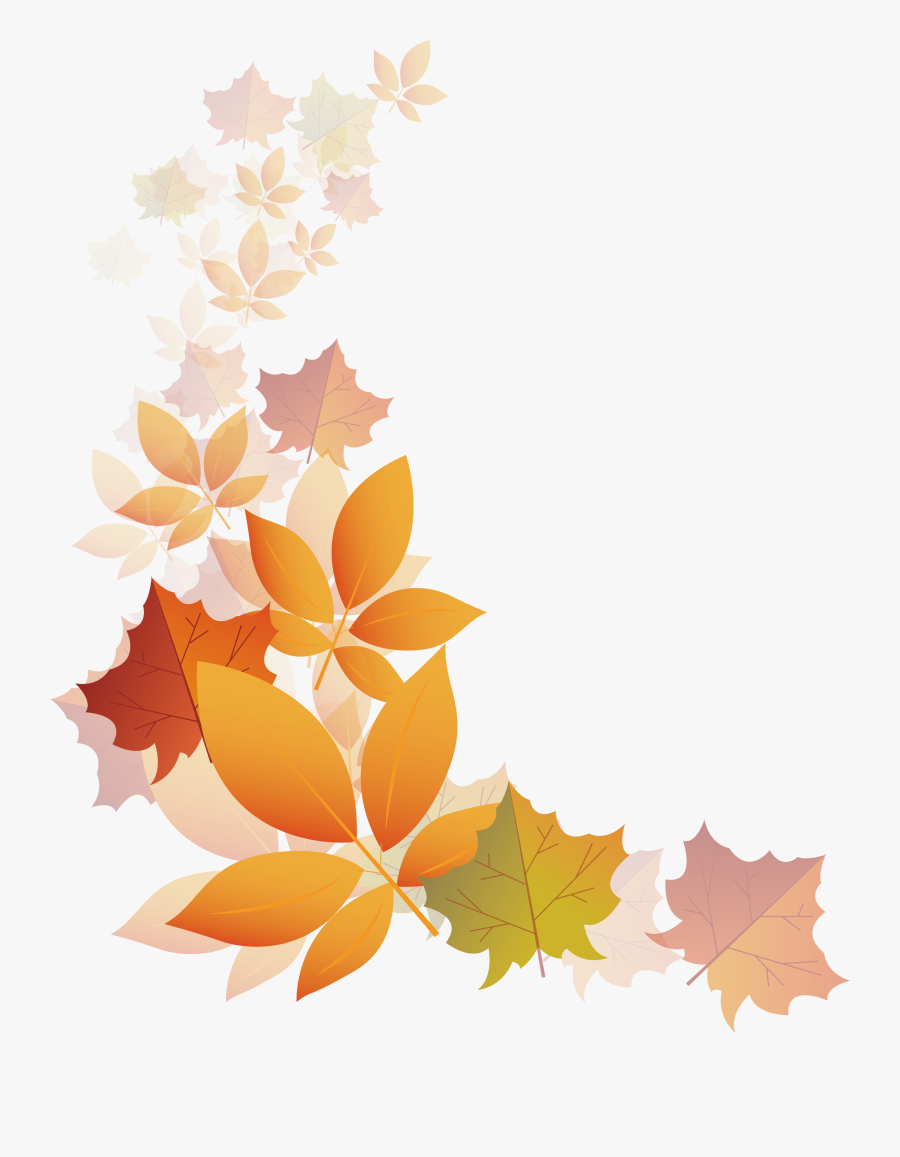 Autumn Transparency And Translucency - Clear Background Autumn Leaves Transparent Background, Transparent Clipart
