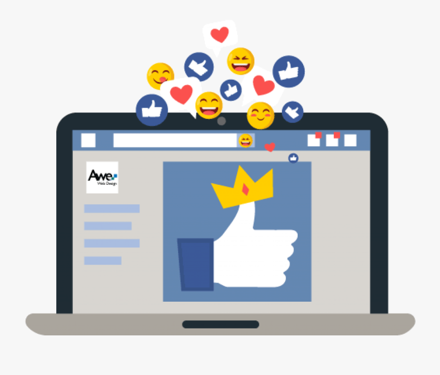 Professional Web Design Integrates With Social Media - Website Social Media, Transparent Clipart