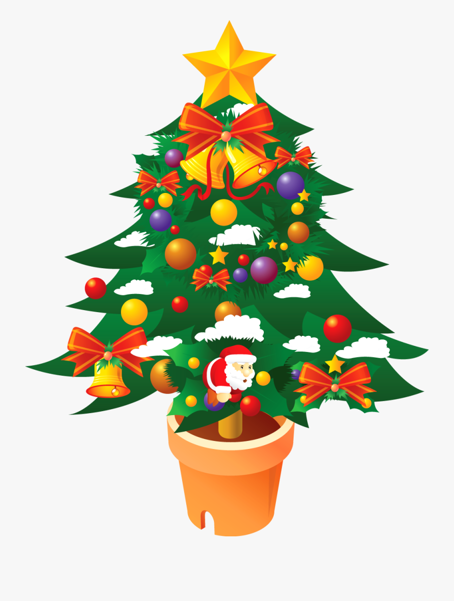 Christmas Tree Clipart Png - Merry Christmas Trees, Transparent Clipart
