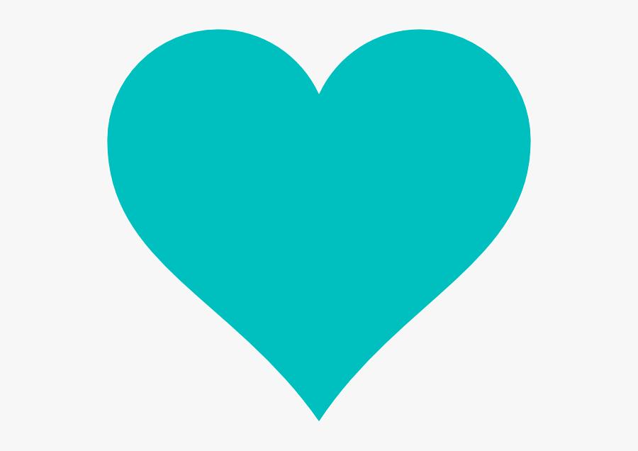 Blue Heart Clip Art At Clker - Teal Heart Clipart , Free ...