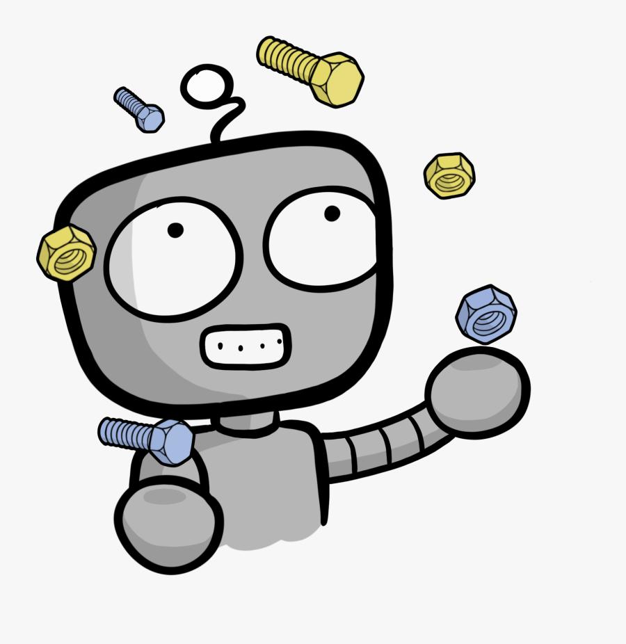 Nuts Clipart Bolt - Cartoon Nuts And Bolts, Transparent Clipart