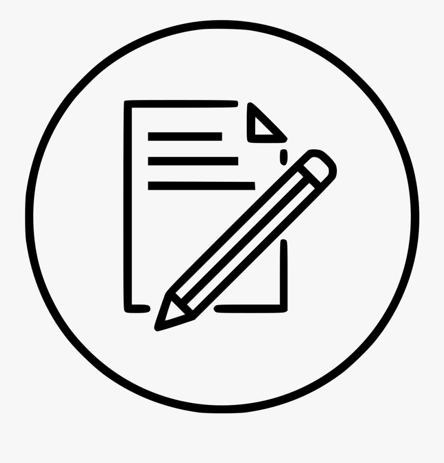 Document Paper Write Pencil Pen Drawing Png Icon Free - Paper And Pen Drawing, Transparent Clipart