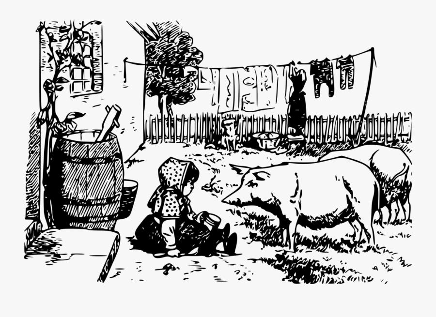 Art,livestock,monochrome Photography - Illustration, Transparent Clipart