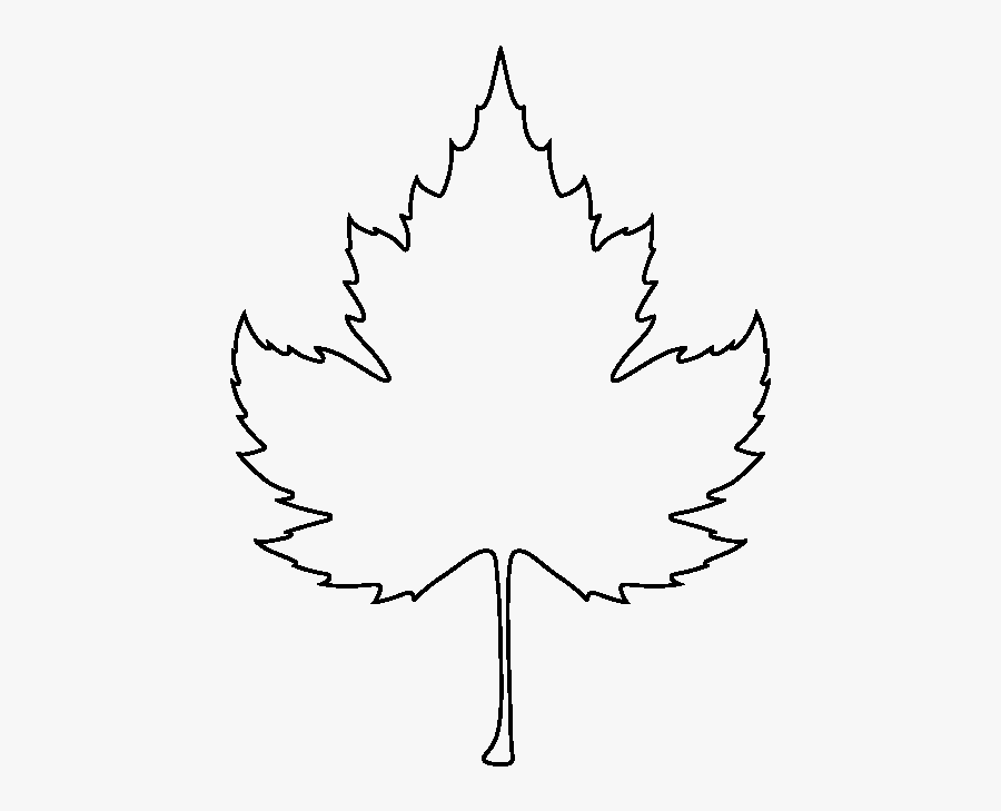 Sycamore Leaf Pattern - Outline Fall Leaf, Transparent Clipart