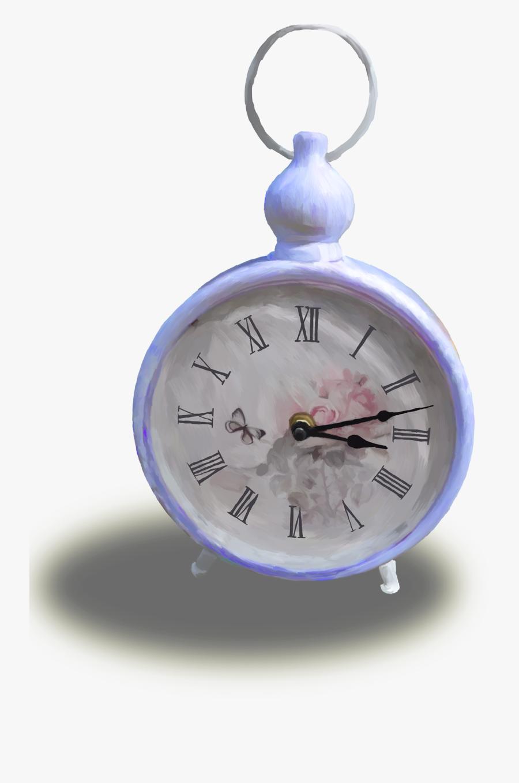 Alice In Wonderland Pocket Watch Png - Alarm Clock, Transparent Clipart
