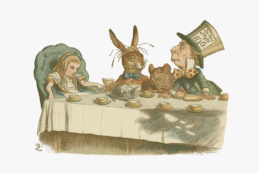 Alice Module2 Nurseryalice1890tenniel 12c - Alice At The Mad Hatter's Tea Party, Transparent Clipart