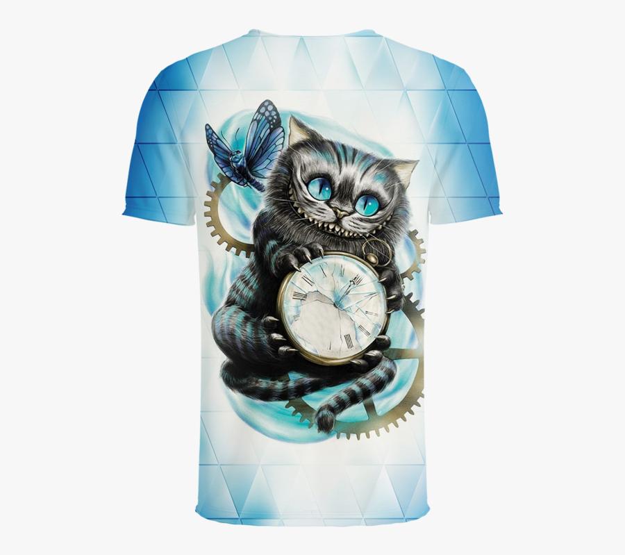 Cheshire Cat Alice In Wonderland 3d T-shirt - Alice In Wonderland Diamond Painting Kits, Transparent Clipart