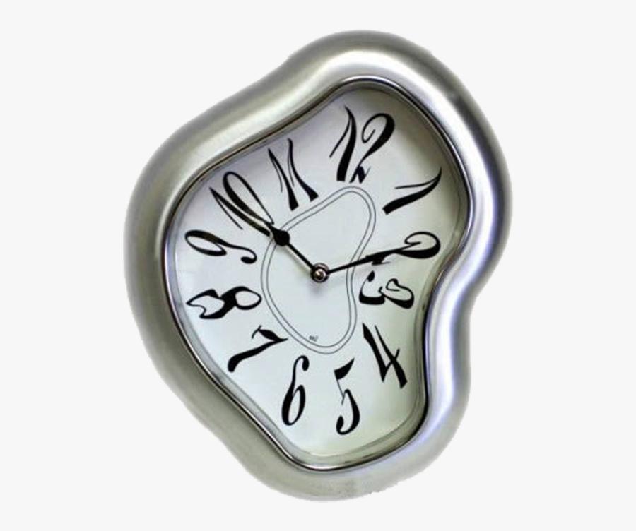 Transparent Melting Clock Clipart - Salvador Dali Clocks, Transparent Clipart