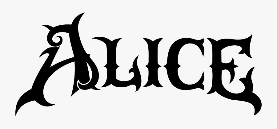 Clip Art- - American Mcgee's Alice Logo, Transparent Clipart