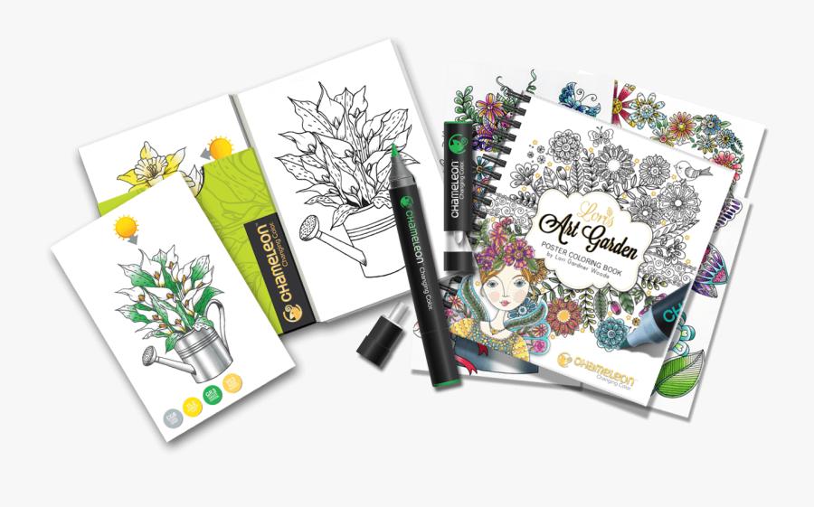Coloring Pages For Chameleon Pens, Transparent Clipart