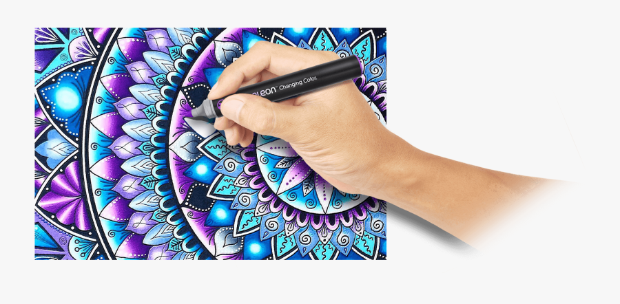 Chameleon Pens Coloring Pages, Transparent Clipart