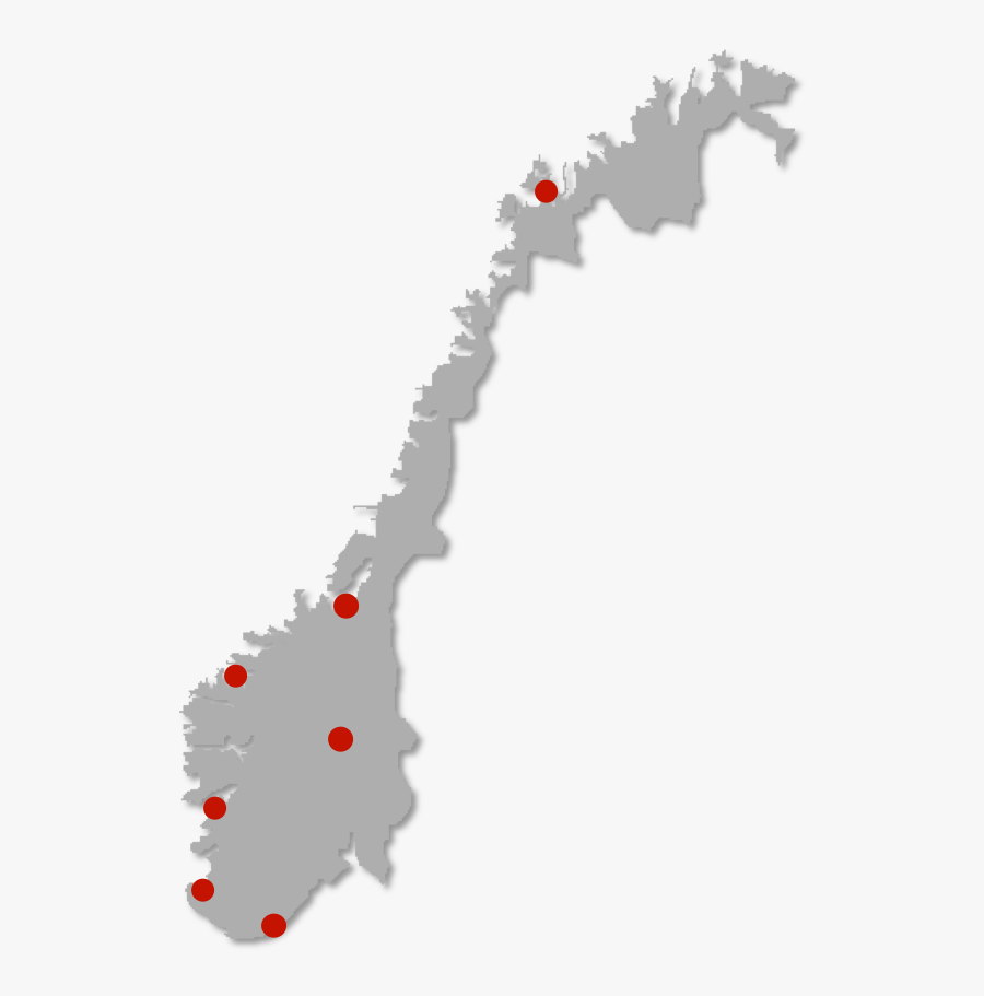Norway Population Distribution Map, Transparent Clipart