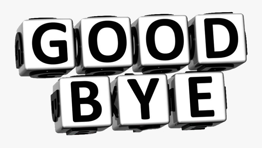 Goodbye Free Png Image - Clipart White And Black Goodbye, Transparent Clipart