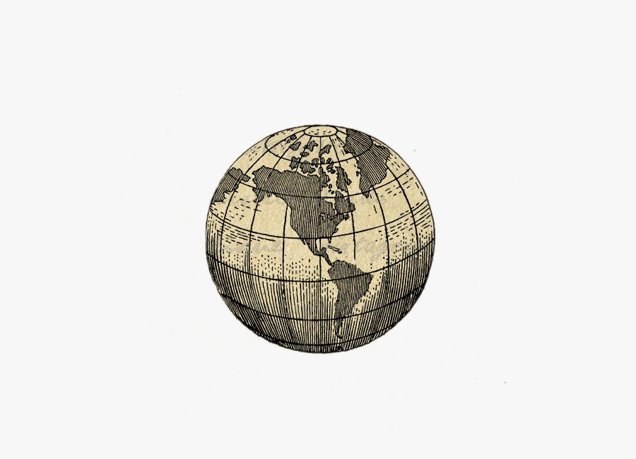 Earth Globe Map World Tattoo Free Download Png Hd Clipart - Earth Globe Tattoo Designs, Transparent Clipart