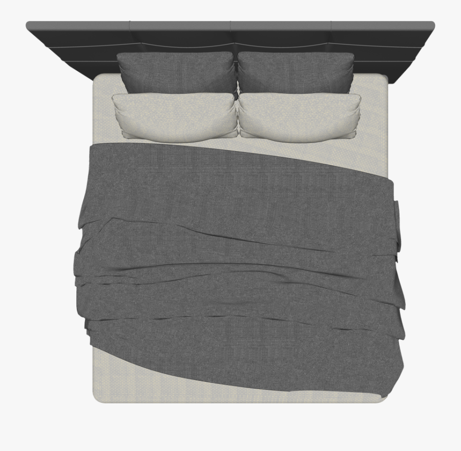 Transparent Bed Top View Clipart - Bed Top View Png, Transparent Clipart