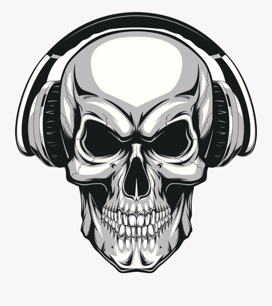 Clip Art Skull Human Illustration Wearing - Evil Skull, Transparent Clipart