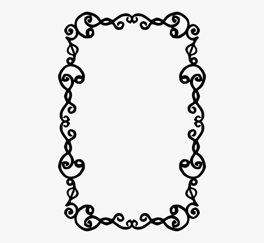 Picture Frame,line Art,flower - Portable Network Graphics, Transparent Clipart