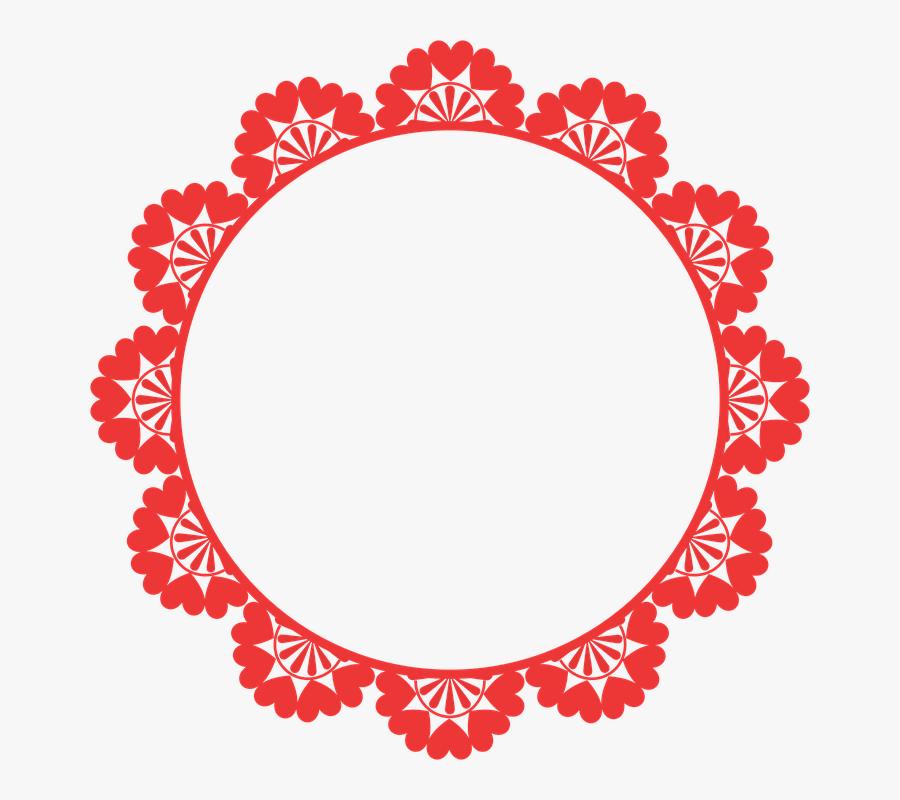 Frame, Round, Border, Decoration, Decor, Decorative - Round Border Design Png, Transparent Clipart