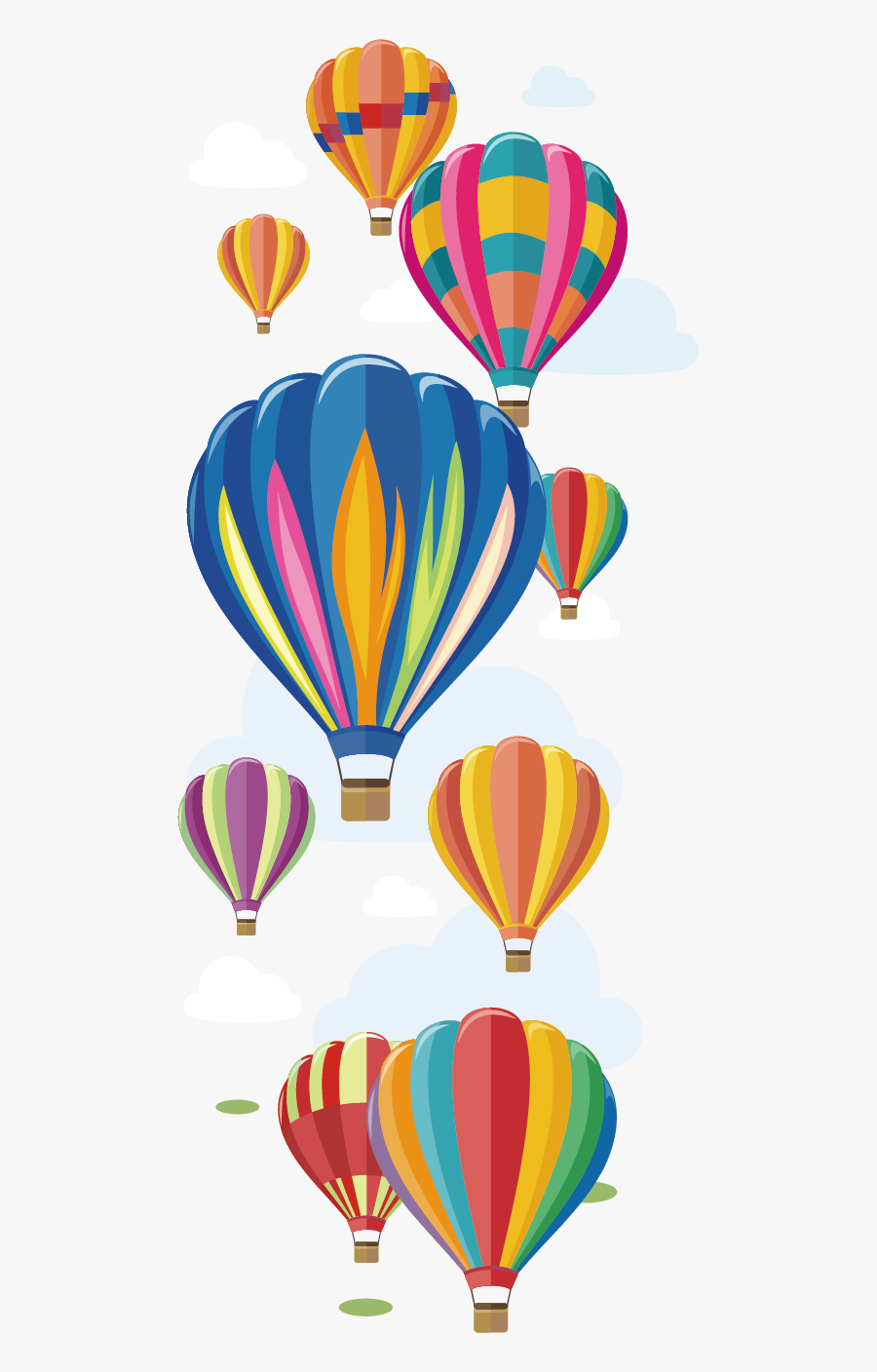 Festival Poster Clip Art - Transparent Background Hot Air Balloon Png, Transparent Clipart