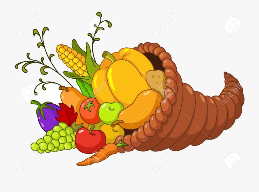 Cornucopia Pictures Of Free Best Transparent Png - Cartoon Thanksgiving Cornucopia, Transparent Clipart