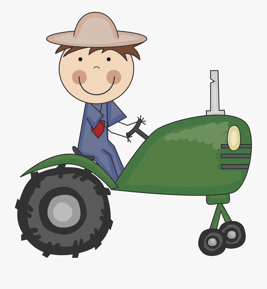 Go To Image - Farmer With Tractor Png, Transparent Clipart