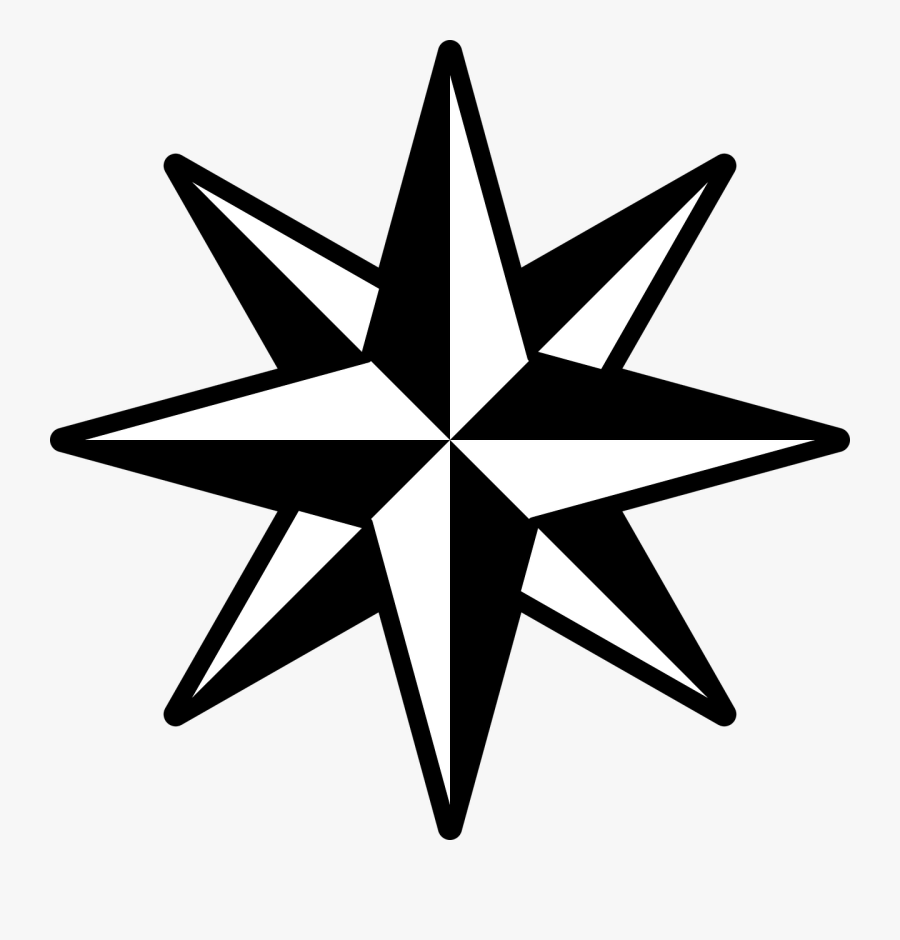 Star Clipart - 8 Pointed Star Vector Png, Transparent Clipart