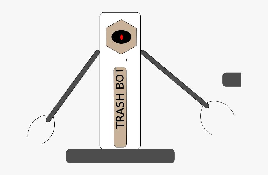 Trash Bot - Illustration, Transparent Clipart